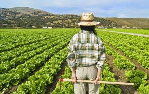 joven agricultora